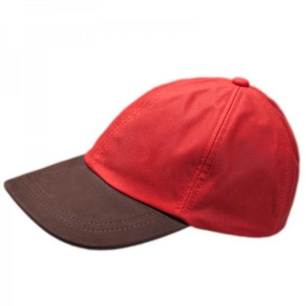 Waxed Baseball Cap - Red