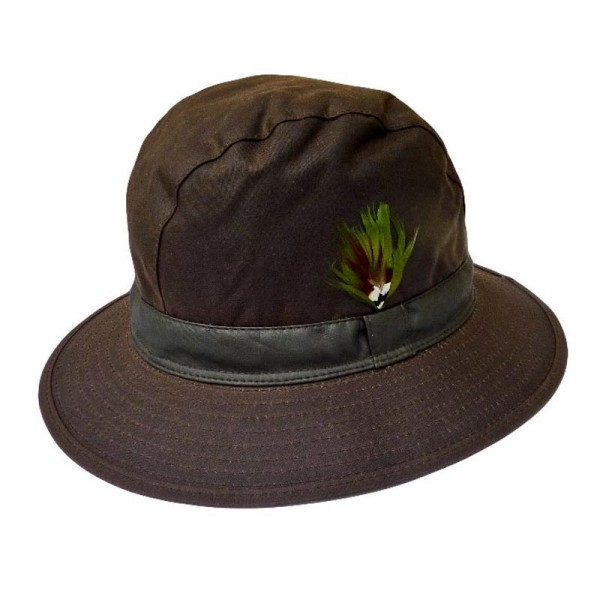 Waxed Trilby Hat - Brown Wax